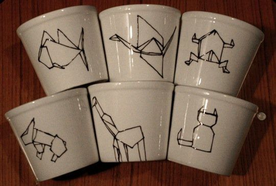 Etsy Find: Origami Tumblers