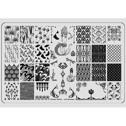 Powder Perfect- Stamping Plates - Art Nouveau 01