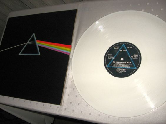 Pink Floyd ‎- The Dark Side Of The Moon Dutch issue on white vinyl.