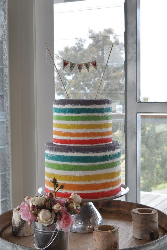 Rainbow wedding cake ❤