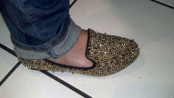 Cheetah studded flats... Fab!