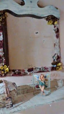 Diy Vintage , Shabby Chic , Retrô e Reciclagem: Espelho / Aparador Shabby chic