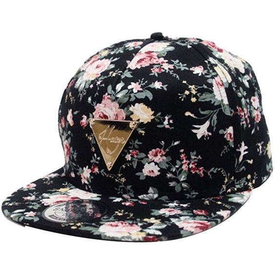 Zeagoo Floral Flower Snapback Hip-Hop Hat Flat Peaked Adjustable... (£6.05) ❤ liked on Polyvore featuring accessories, hats, flat bill snapback hats, snapback baseball caps, baseball caps hats, floral snapbacks and adjustable baseball caps