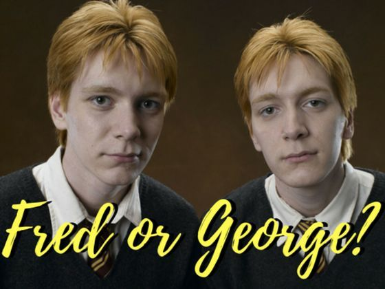 Quiz Think You Know Your Potter Who Said It Fred Or George Weasley George Weasley Fred And George Weasley Harry Potter Quiz