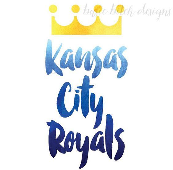 Kansas City Royals Print by BasicBitchDesigns on Etsy