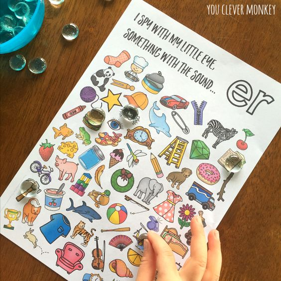 Printable Digraph Activities - Sound Mazes and I Spy Games perfect for Word Work or Literacy Centers | you clever monkey