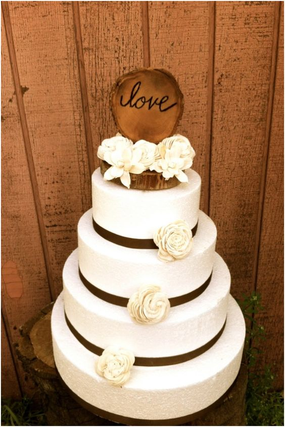 cute wedding cakes and chic rustic wedding cake toppers maybe with 13279
