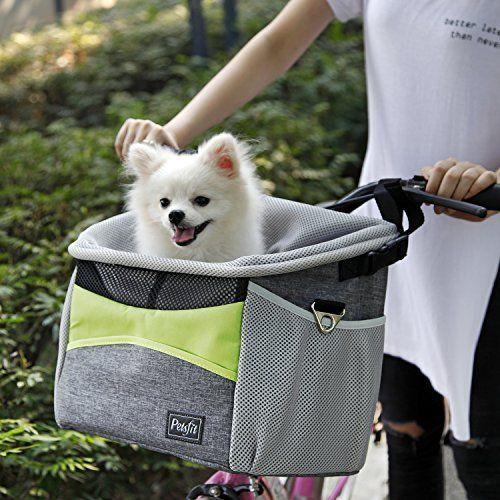 Petsfit Dog Baskets Pet Carrier For Bicycle Dog Bike Basket