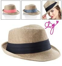 Fedora Hat with 3 Looks-Avon! http://yardsellr.com/for_sale#!/fedora-hat-with-3-looks-avon-3322775