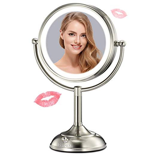 Vesaur Professional 7 5lighted Makeup Mirror 10x Magnifying Vanity Mirror With 28 Medical Led Lights Makeup Mirror With Lights Cosmetic Mirror Makeup Mirror