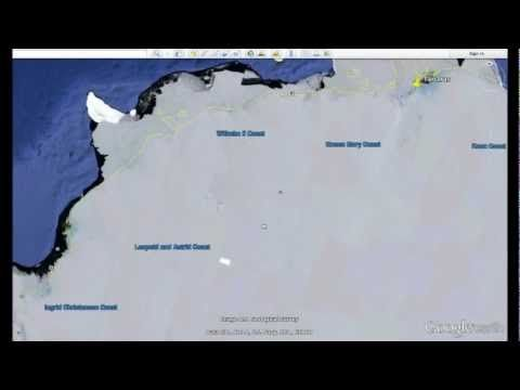 "14 mile long ""THING"" buried in Antarctica? - how to find using Google Earth"