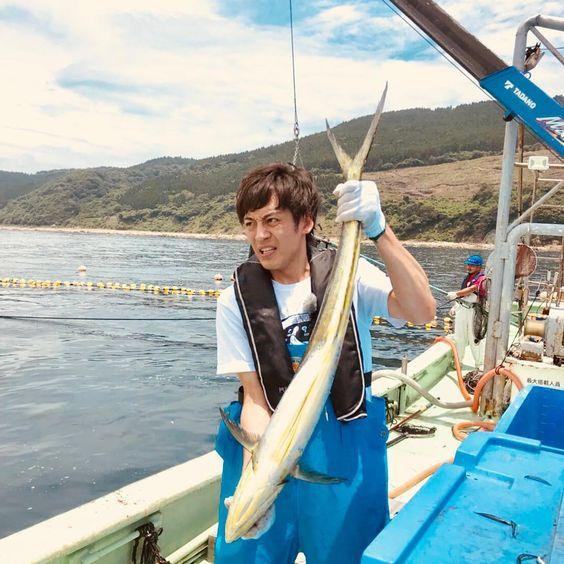 漁をしている村田さん