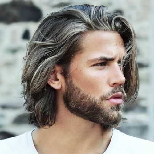 White Underlights Layered Haircuts For Men Guy Haircuts Long Surfer Hair Long Hair Styles Men