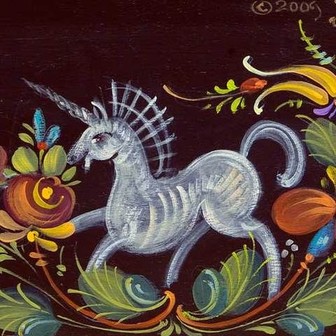 Os Rosemaling The Lion And The Unicorn Jp3201 Folk Art Painting Norwegian Rosemaling Art