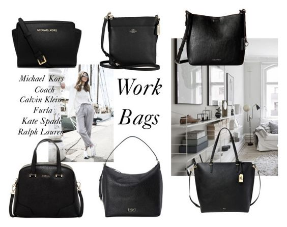 """Work bags"" by suzip123 on Polyvore featuring Furla, Michael Kors, Coach, Lauren Ralph Lauren, Calvin Klein and Kate Spade"
