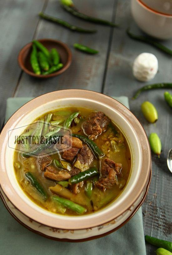 Resep Asem Asem Daging Buncis Cabai Hijau Memasak Masakan Indonesia Daging