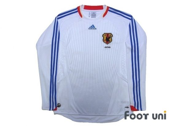 Japan 2008 Away Long Sleeve Shirt Retro Football Shirts Long Sleeve Shirts Vintage Football Shirts