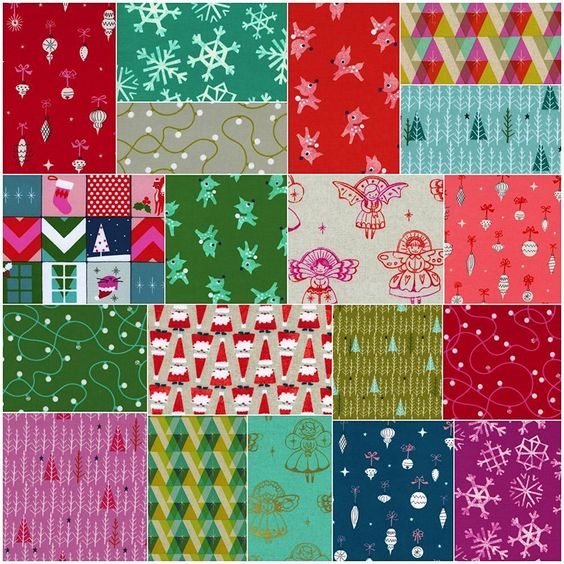 10+ Wonderful Winter Fabric Bundles: Are you ready to start your Christmas sewing? Here are some wonderful fabrics for your Christmas and winter sewing! | www.sewwhatalicia.com