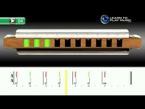Ex004 How to Play Harmonica - Harmonica Lessons for Beginners - http://www.blog.howtoplaytheharmonica.org/uncategorized/ex004-how-to-play-harmonica-harmonica-lessons-for-beginners