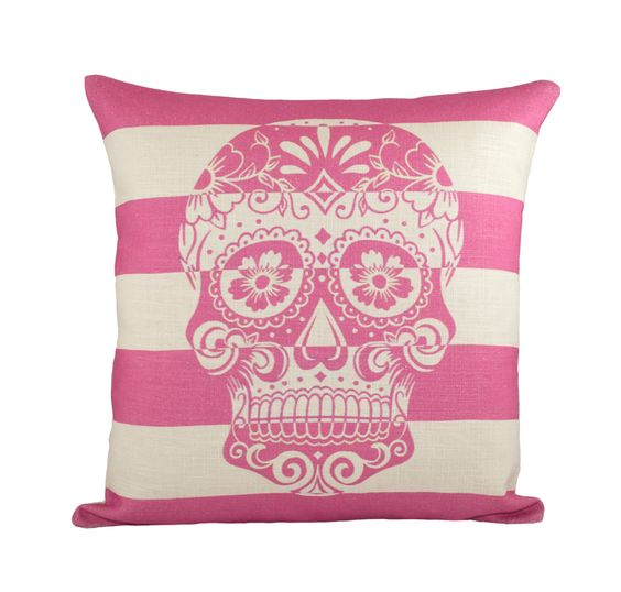 Etsy Pink Throw Pillow : Pillow covers, The dead and Pink skull on Pinterest
