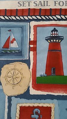 NEW IN PACK COASTAL VINYL TABLECLOTHS, Oblong, Round, 3 Styles