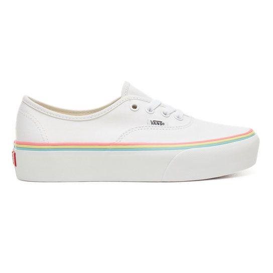 Rainbow Foxing Authentic Platform 2.0 Shoes | White | Vans