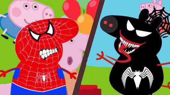 #Peppa Pig #Spiderman vs #VENOM #Nursery Rhymes #Collection Lyrics and m...