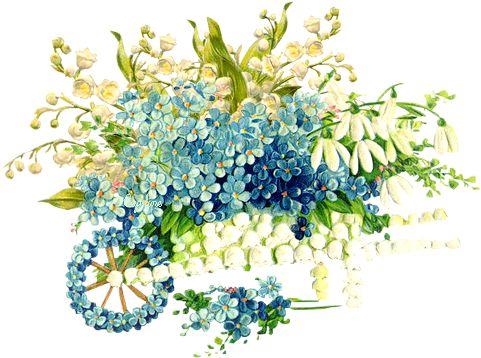 винтажные цветы в PNG для декупажа. Обсуждение на LiveInternet - Российский Сервис Онлайн-Дневников