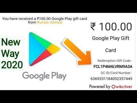 Free Google Play Gift Card New Way 2020 Google Play Gift Card Google Play Codes Free Itunes Gift Card