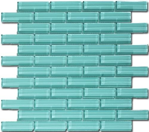 Crystile Series 1 X 3 Soft Mint C08 2 Sea Glass Tile Glass Tile Mosaic Glass