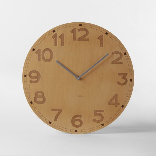 Basic Wood Wall Clock from West Elm online shop