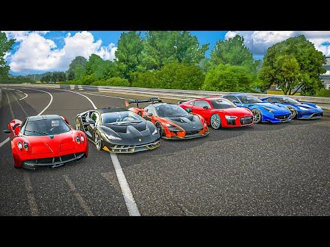 Forza 7 Drag Race Mclaren Senna Vs Centenario Vs Huayra Vs Ford