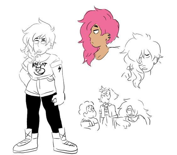 Early Concepts of Mystery Girl : stevenuniverse