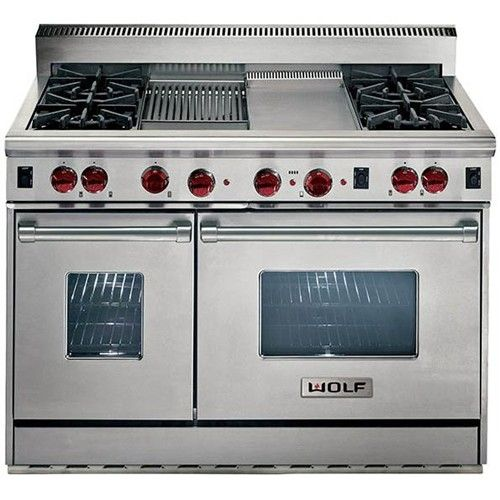 range with 4 burners double oven charbroiler and griddle by wolf for the home pinterest stove wolf stove and ranges