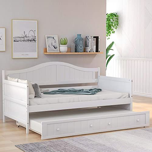 New Twin Daybed Trundle Wood Trundle Daybed Bedroom Guest Room