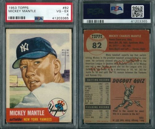 1953 Topps Mickey Mantle Short Print 82 In 2020 Mickey Mantle Mickey Mantle