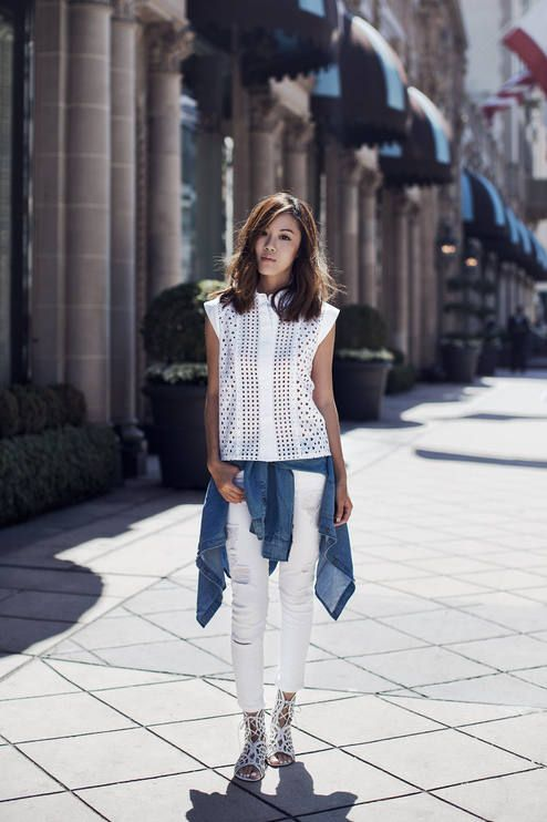White Eyelet Top  # #Tsangtastic #Spring Trends #Fashionistas #Best Of Spring Apparel #Top Eyelet #Eyelet Top White #Eyelet Top How To Wear #Eyelet Top 2015 #Eyelet Top Where To Get #Eyelet Top How To Style
