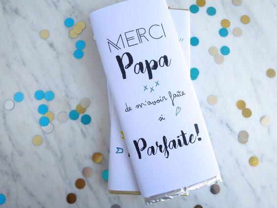 Printable pour la fête des pères : du chocolat pour papa - Lovely Bulle: