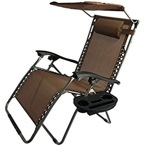 Akari Decor Extra Large Oversized Xl 3pcs Zero Gravity Chair Patio Adjustable Recliner With Canopy Sunsh Outdoor Recliner Zero Gravity Chair Patio Patio Chairs
