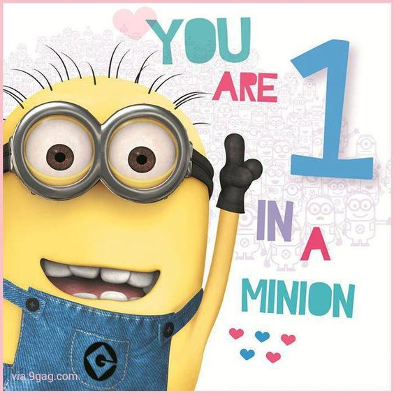 Shocking image regarding you re one in a minion printable