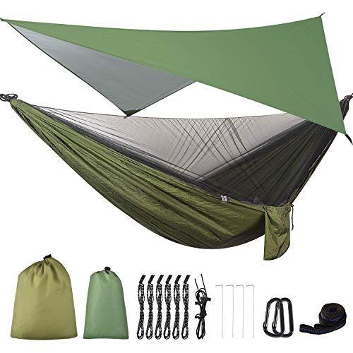 Firiner Camping Hammock With Mosquito Net Rainfly Tent Best Camping Hammock Hammock Camping Hammock With Mosquito Net