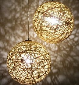 Mónica Diseños: Lámpara de hilo sisal a pedido