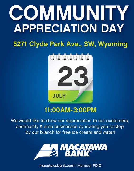 Community Appreciation Day @ our Clyde Park Branch.  Stop out and see us!