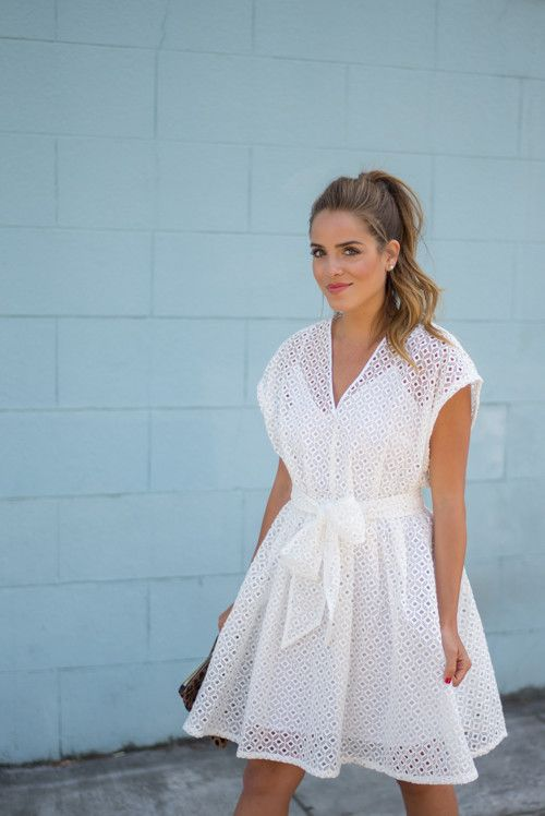 White Eyelet Dress - Gal Meets Glam Banana Republic Dress- Chloe ...