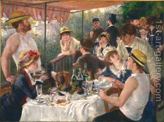 Pierre Auguste Renoir:Luncheon Of The Boating Party