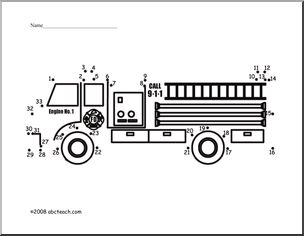 dot to dot fire truck worksheets dot dot and puzzles pinterest activities trucks and dots. Black Bedroom Furniture Sets. Home Design Ideas