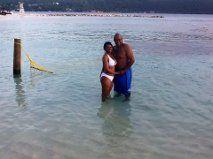 Jan & Me Enjoying The Ocean