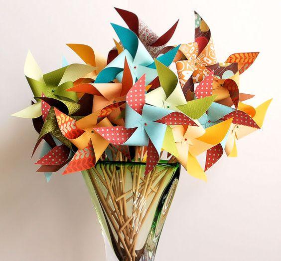 wonderful colored pinwheels