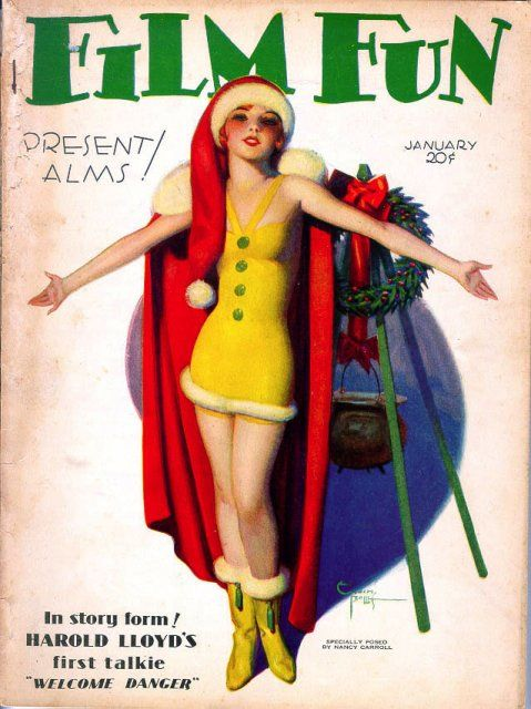 vintage Film Fun magazine cover, cover by Enoch Bolles