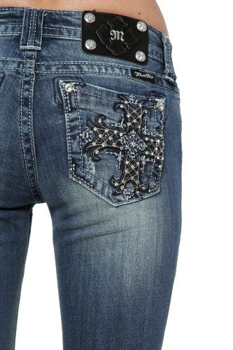 Cheap price Miss Me dark crosses mid-rise bootcut jeans (33) from ...